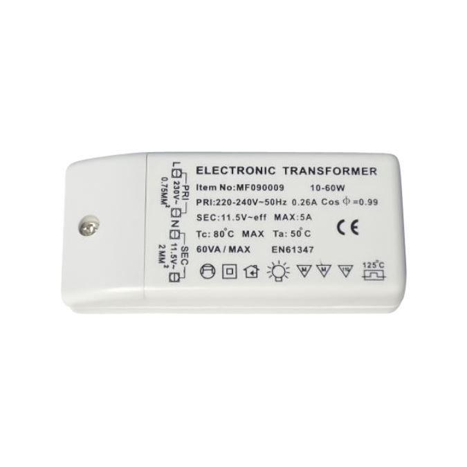 Transformateur electronique 12V 10 à 60W CE RoH…