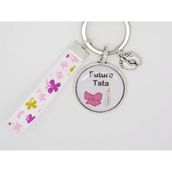 Portes Clés Personnalisable ou Bijou de Sac Cadeau Original pour Annonce Grossesse Tata Tatie Tante