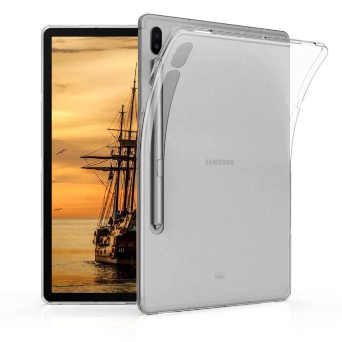 kwmobile Étui Samsung Galaxy Tab S6 Étui pour tablette Samsung Galaxy Tab S6 Coque en silicone transparent