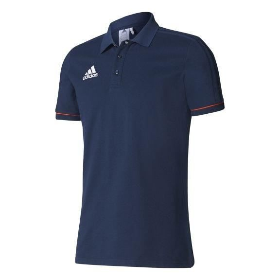 ADIDAS Tiro 17 Polo - Bleu / Orange / Blanc