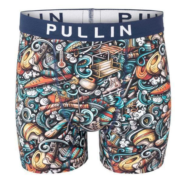 PULL IN Boxer Long Homme Coton Bio FAWINTERSPORTS Bleu