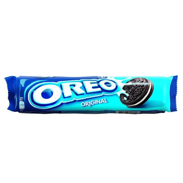Biscuit cacaotés goût vanille 154 g Oreo