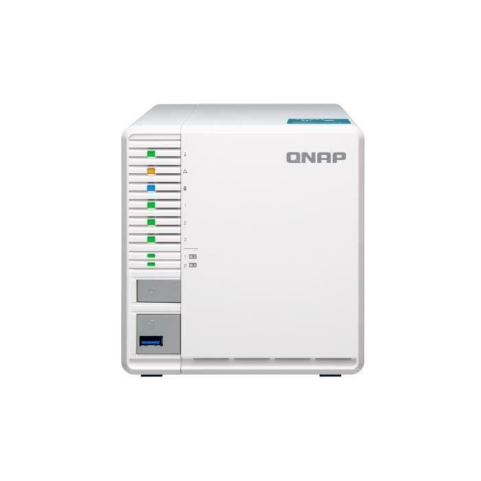 QNAP TS-351 Ethernet/LAN Tour Blanc NAS