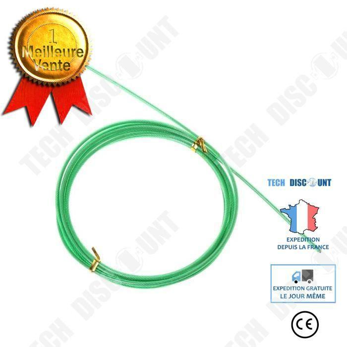 TD® Accessoires Fitness - Musculation,Cordes de saut de vitesse de câble d'acier remplaçables par Crossfit de 3m sautant - Type gree
