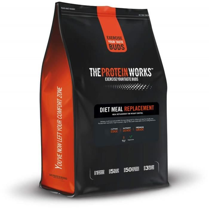 The Protein Works Diet Meal Replacement, Complément Alimentaire, Chocolat Onctueux, 1kg - POWDIETMRPCHO1KG