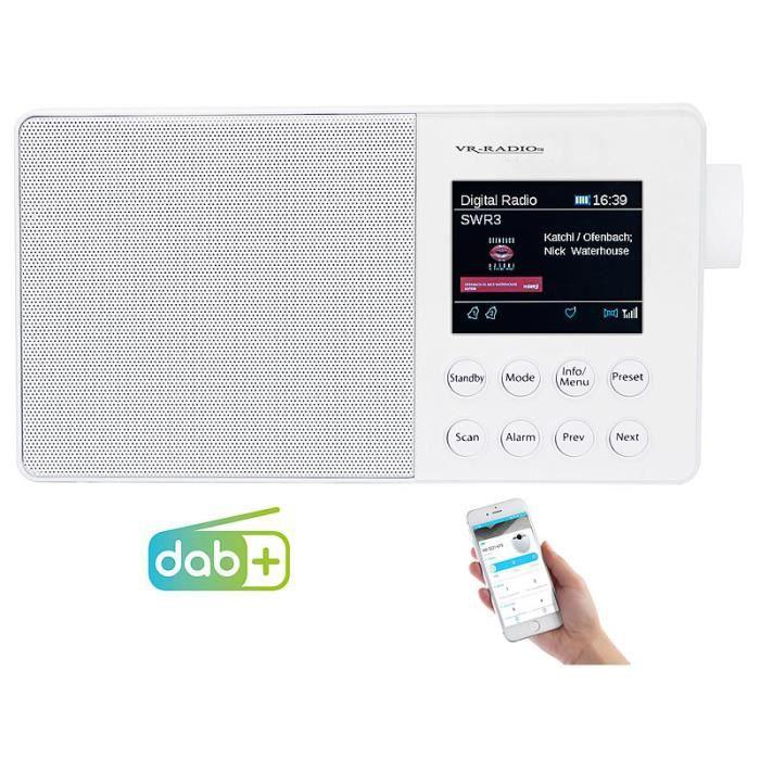 Radio mobile numérique DAB+/FM 6W avec bluetooth & écran couleur DOR-310 - Blanc