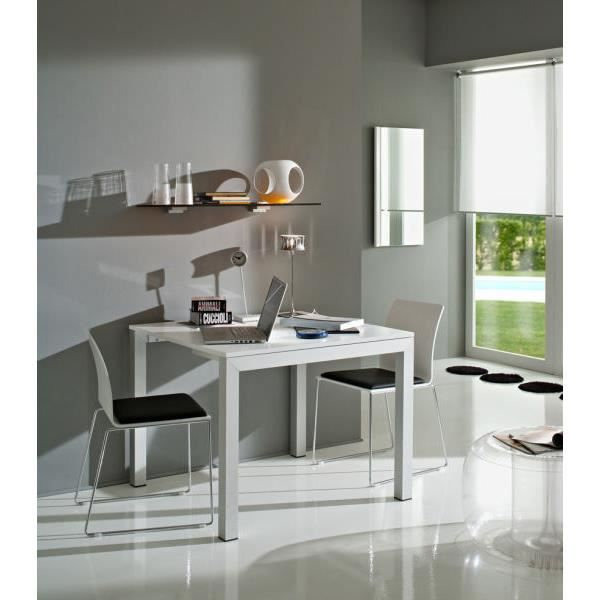 Table blanche modulable andr 181cm meuble house achat for Meuble sejour modulable