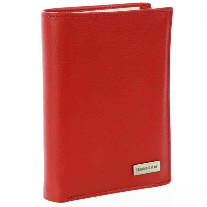 PORTEFEUILLE Portefeuille Design pour homme/femme en cuir rouge