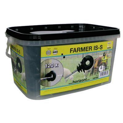 CLÔTURE ÉLECTRIQUE 120 isolateurs Farmer IS-S noir Horizont Agrar