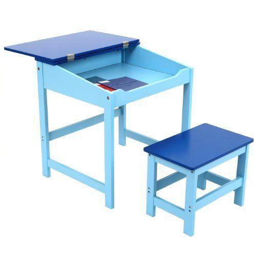premier housewares 2402524 bureau tabouret d 39 enfant en mdf bleu achat vente tabouret bleu. Black Bedroom Furniture Sets. Home Design Ideas