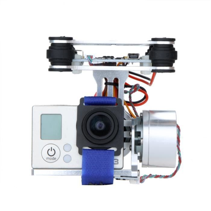 goolrc argent cnc fpv quadcopter bgc 2 axes gimbal cardan sans bross w contr leur pour gopro. Black Bedroom Furniture Sets. Home Design Ideas