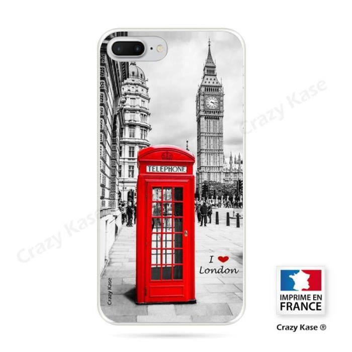 coque iphone 8 plus souple motif londres crazy
