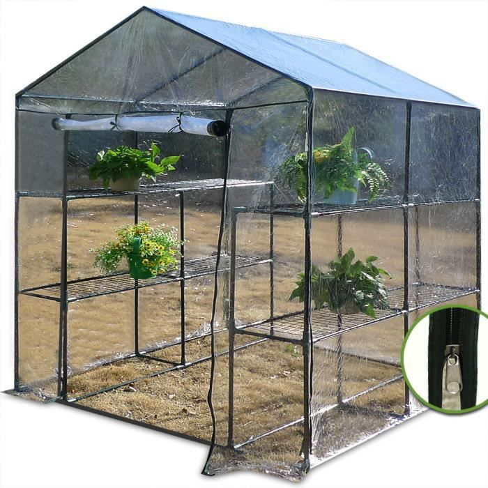 serre avec b che plastique transparente plantation l gumes semis potager jardin achat vente. Black Bedroom Furniture Sets. Home Design Ideas