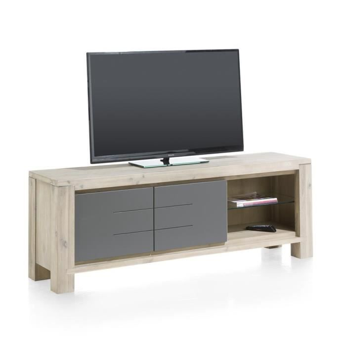 meuble tv multiplus 170 cm acacia massif h h achat vente meuble tv meuble tv multiplus 170. Black Bedroom Furniture Sets. Home Design Ideas