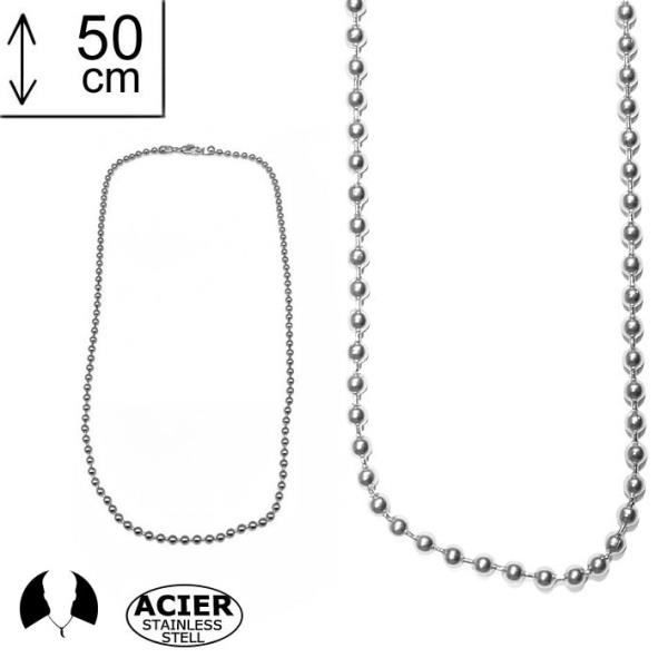 collier 50 cm homme