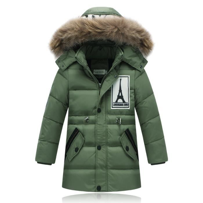 parka capuche fourrure enfant gar on doudoune enfant gar on duvet manteau blouson veste gar on. Black Bedroom Furniture Sets. Home Design Ideas