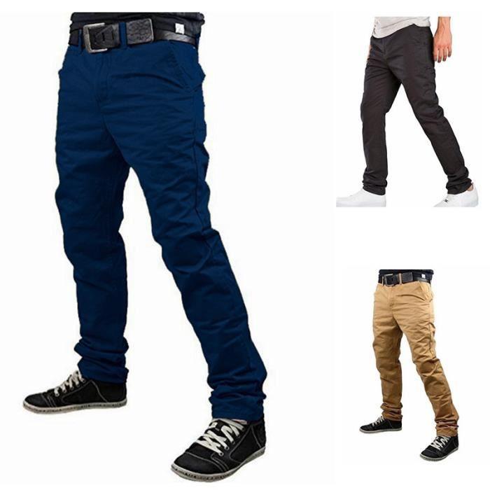pantalon cargo homme bleu marine