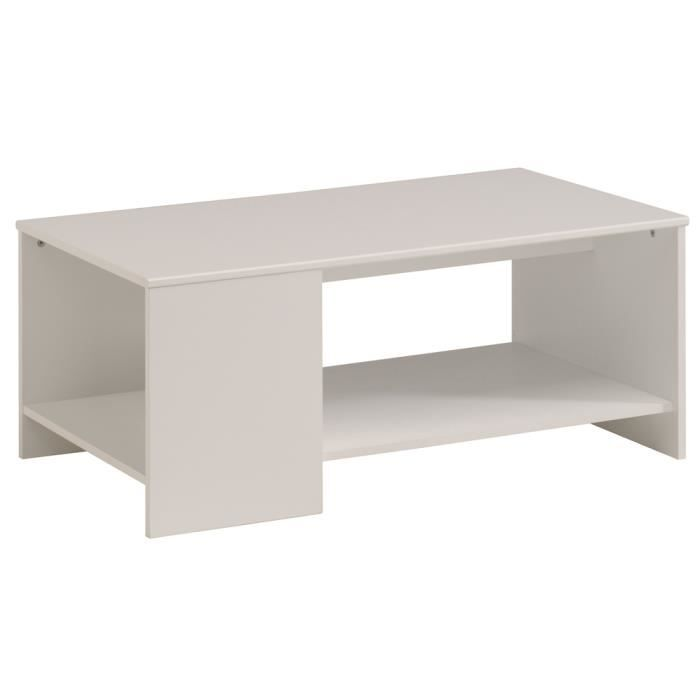 Table basse coloris blanc dim l 98 x p 54 x h 41 cm achat vente table - Table and co vente en ligne ...