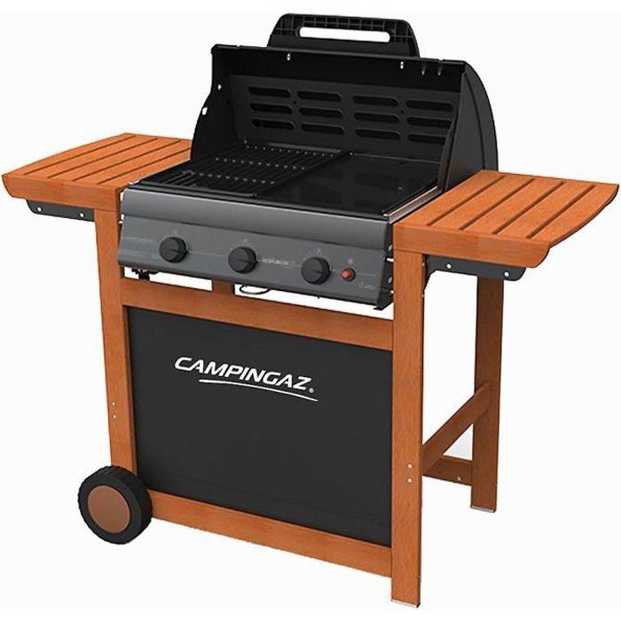Campingaz Barbecue à Gaz Adelaide 3 Woody L Acier émaillé 45x57 Cm