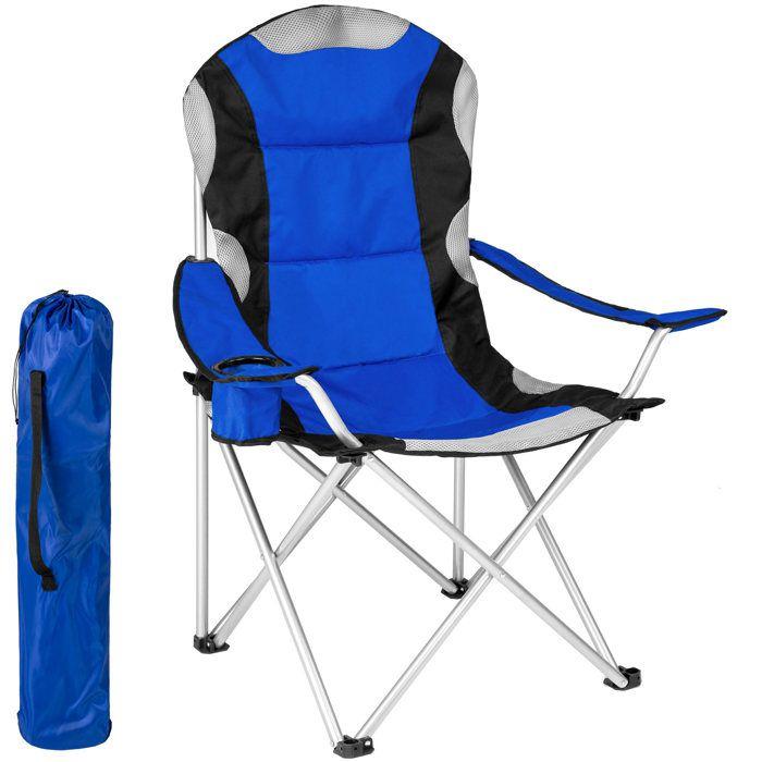 KingCamp Chaise de Camping Pliable en Aluminium avec Porte-gobelet Charge maximale 120 kg