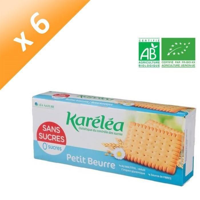 [LOT DE 6] KARELEA Petit Beurre Sans Sucre Ajouté - 150 g