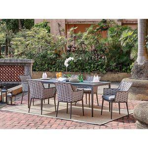 SALON DE JARDIN  Ensemble repas de jardin - table de jardin 200 cm