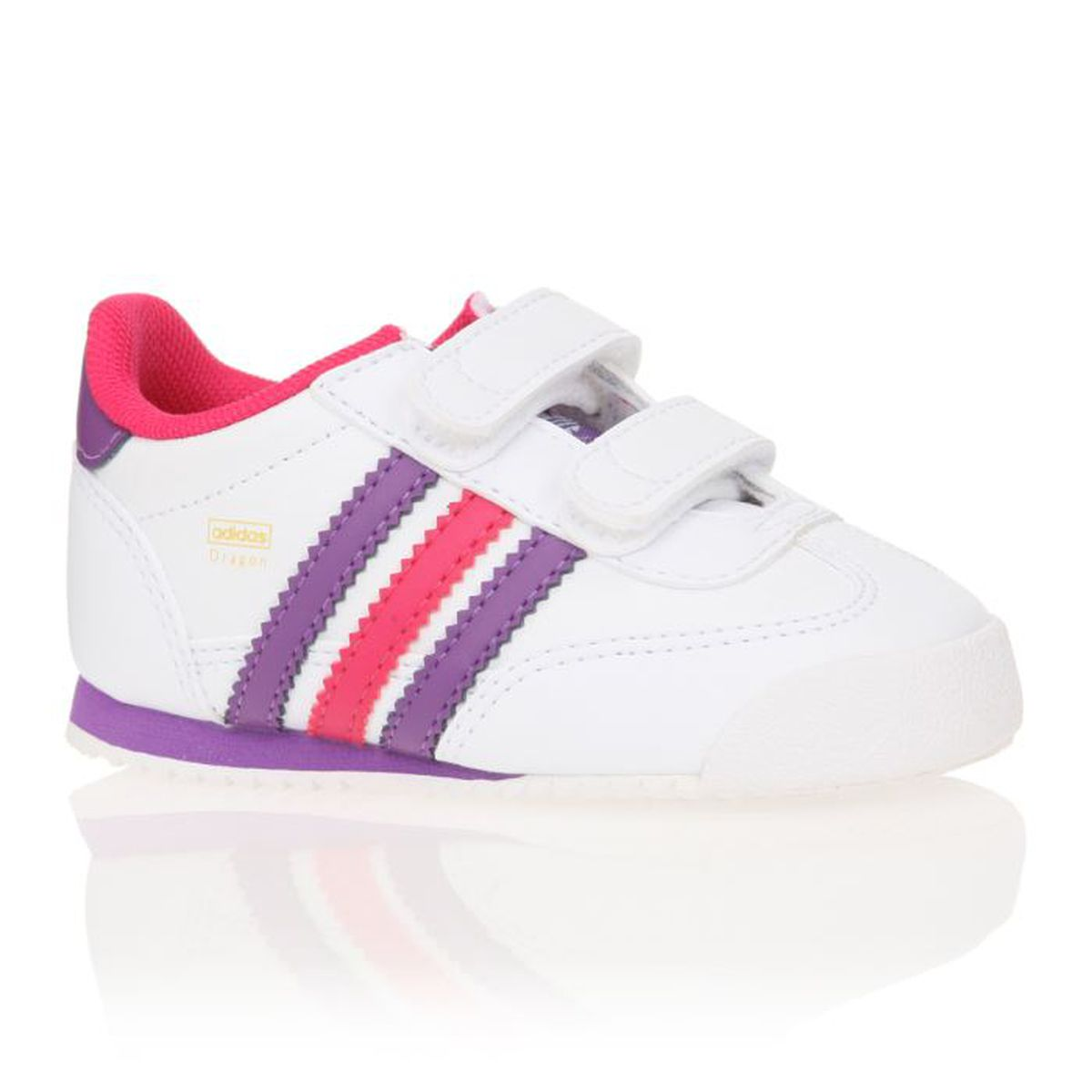 de48a0d604811 ADIDAS ORIGINALS Baskets Dragon Cf Bébé Fille Blanc   Violet   Rose ...