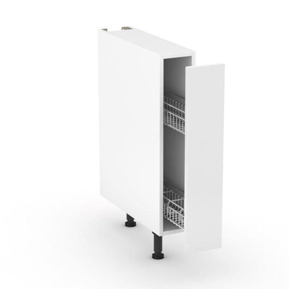 Meuble Bas De Rangement Pour Cuisine rimini blanc meuble de cuisine bas blanc caisson porte