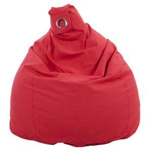 POUF - POIRE Poire déhoussable en coton FLO - Ø75x110 cm - Roug