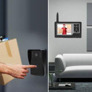 Visionneuse num/érique de Porte pour la s/écurit/é Domestique 3 Pouces /écran TFT LCD HD Smart Peephole Sonnette visuelle avec cam/éra de Vision Nocturne IR 1MP Facile /à Utiliser