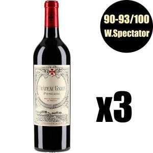 VIN ROUGE X3 Château Gazin 2014 75 cl AOC Pomerol Vin Rouge