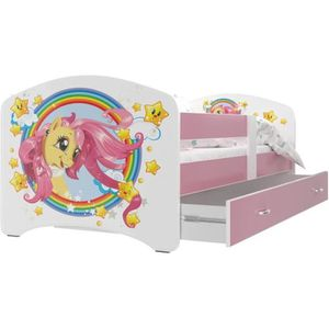 LIT COMPLET LIT ENFANT HAPPY 80x160 PONY + FINITIONS ROSES liv