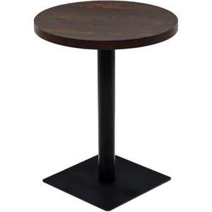 MANGE-DEBOUT Table haute mange debout bar bistrot MDF et acier