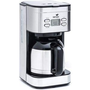 MACHINE À CAFÉ Senya cafetière électrique programmable Inox Hot C