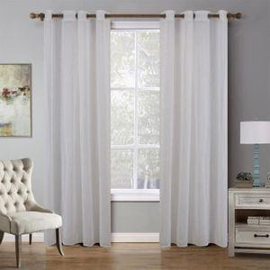 RIDEAU 2X voilage rideau 140 * 220cm - fenêtre porte ride