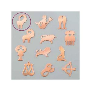 PENDENTIF VENDU SEUL Pendentif en cuivre Capricorne signe astrologique