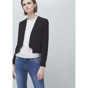 blazer court femme achat vente blazer court femme pas cher cdiscount. Black Bedroom Furniture Sets. Home Design Ideas