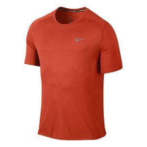 Maillot Nike Dri FIT Miler à manches courtes orange Prix