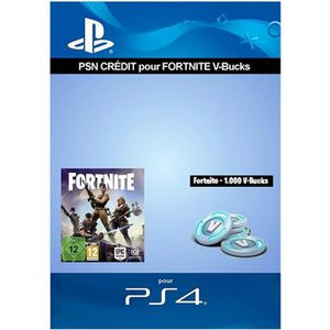 EXTENSION - CODE Crédit PS4 pour Fortnite - 1.000 V-Bucks par Mail