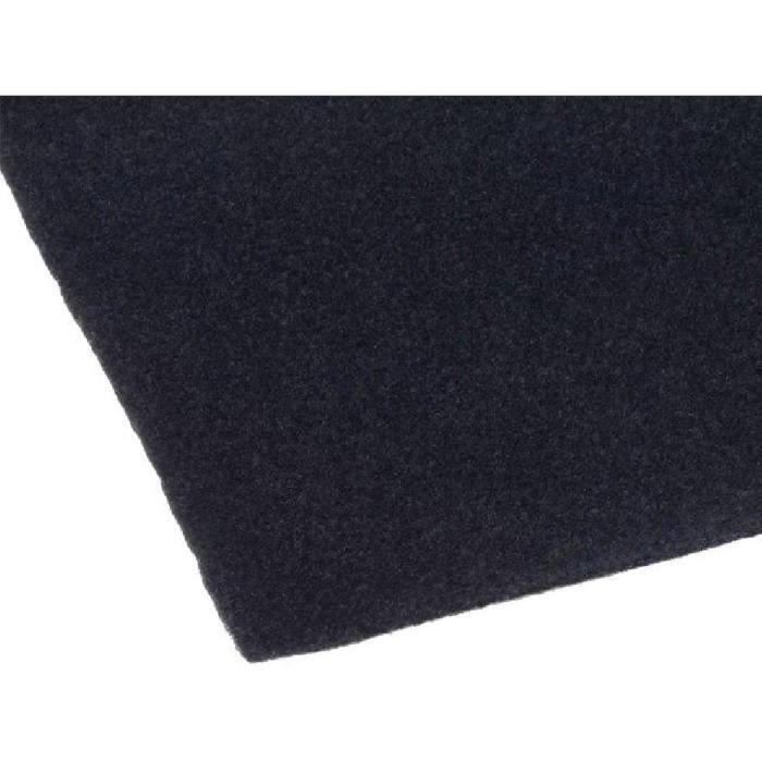 Tissu acoustique 1.4x0.7m noir adhesive - ADNAuto