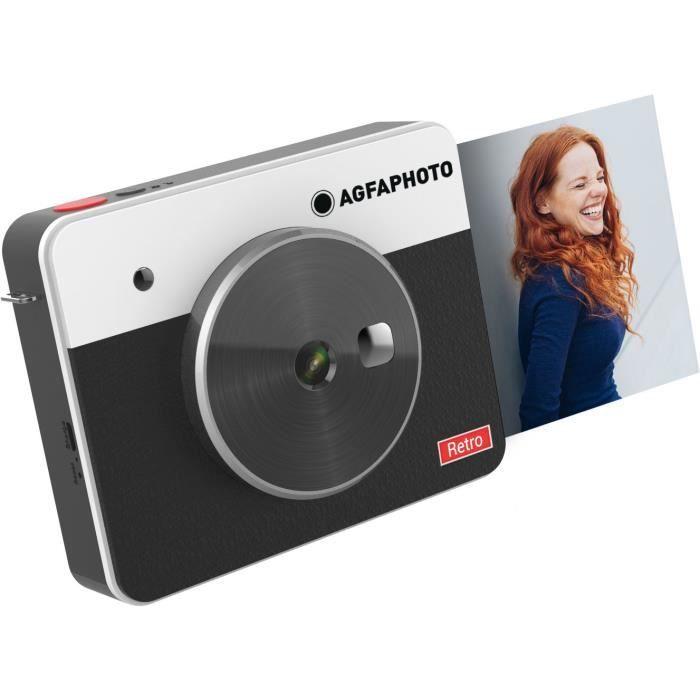 AGFA ASQS33BK Mini Appareil photo imprimante Realipix Square S - 2en1 - 3*3- - Noir