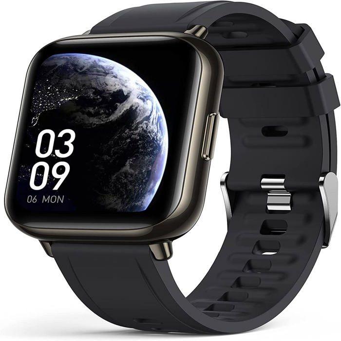 Montre Connectée Homme Femme Smartwatch Sport Etanche IP68 Bracelet Connecté Podomètre Fréquence Cardiaque Oxymètre pour iPhone Sams