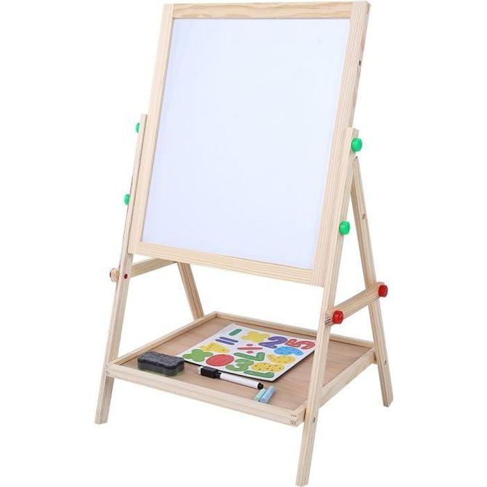 2 en 1 double face bébé enfants enfant debout art planche à dessin en bois-HEN