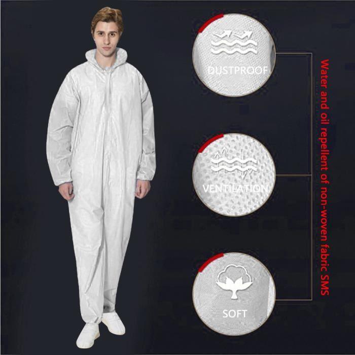 Protection sportive Combinaison Chemical Hazmat Isolation Suit Vêtements de protection jetables Nouveau GJJ200320001WHXL_365