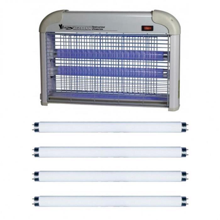 Tue Insectes Electrique 20w Lampe Destructeur Moustique + 4 Néons UV
