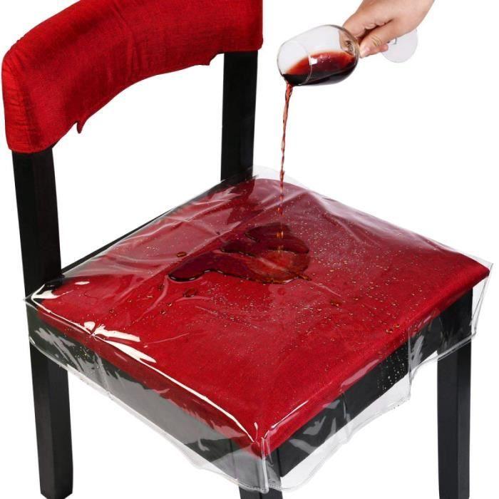 HOMEMAXS 4PCS Housses de siège de chaise PVC Protecteur de réglable étanche pour Bar de Restaurant CHAIR COVER - FURNITURE COVER