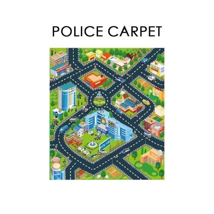 Route enfants Tapis Tapis de jeu pour Playmat jouer Govec des voitures et des jouets_X206 Go05796