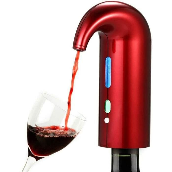 Bec Verseur De Vin Eacutelectrique Aeacuterateur Distributeur Pompe USB Rechargeable Cidre Deacutecanteur Accessoires pour Le Vin