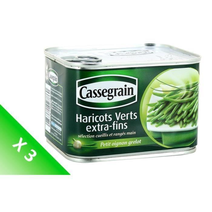 [LOT DE 3] BONDUELLE EUROPE LONG LIFE Haricots verts extra-fins Cassegrain - 706 g