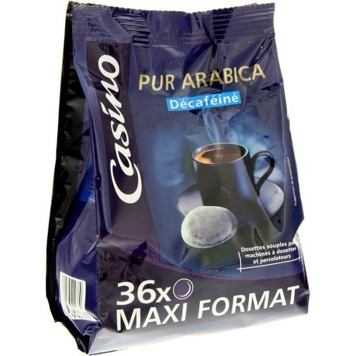 Café décaféiné - 36 dosettes - 250 g